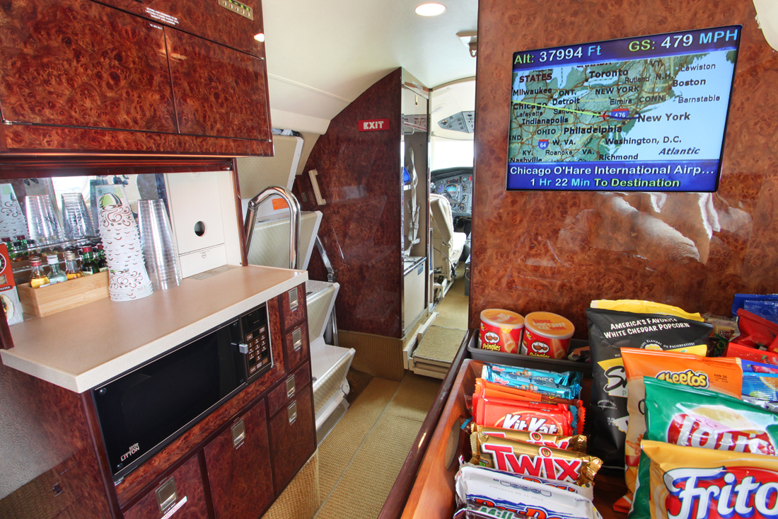 private jet accommodations